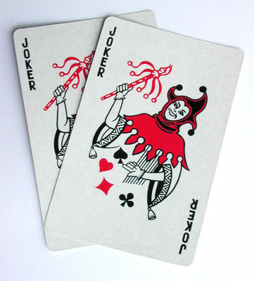 Joker in Deck of Cards http://valuestockphoto.com/stockimages/Entertainment/Games-Hobby/2jokers0799.jpg.html