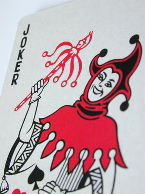 Joker in Deck of Cards http://valuestockphoto.com/stockimages/Entertainment/Games-Hobby/cardsjoker0796.jpg.html