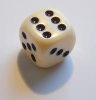 one white dice