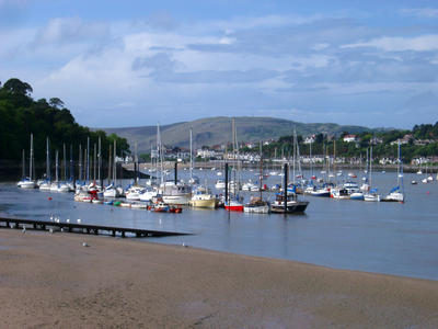conwy river, low tide