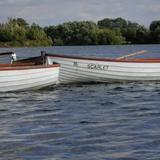 three rowing boats