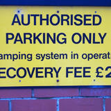 clamping sign