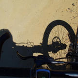 mountainbike shadow