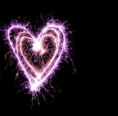 sparkling lovehearts purple