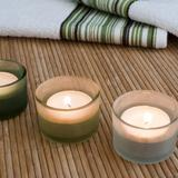 three aromatherapy candles