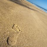 footprint on the beach