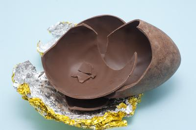 Cracked Chocolate Easter Egg