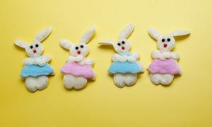 Four Decorative Easter Bunnies