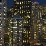 San franisco office towers at night
