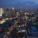 City of Osaka at night