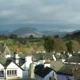 View over the rooftops of Hawkshead village
