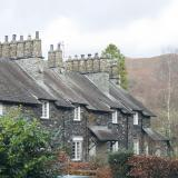 Cumbrian stone cottages at Skelwith Bridge