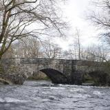 Skelwith Bridge with the river in spate
