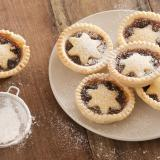 Delicious Christmas mince pies with stars