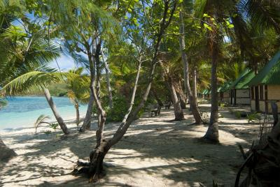Fijian beachfront bures