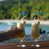 Cocktails on a tropical island