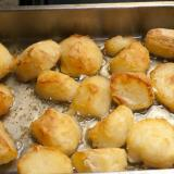 Delicious golden crispy roast potatoes