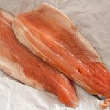 Two fresh raw trout fillets